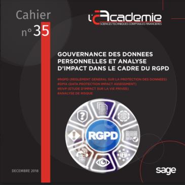 Livre blanc N° 35 de l'Académie dessciences techniques comptables financières « Gouvernance des données personnelles et analysed'impact dans le cadre du RGPD »